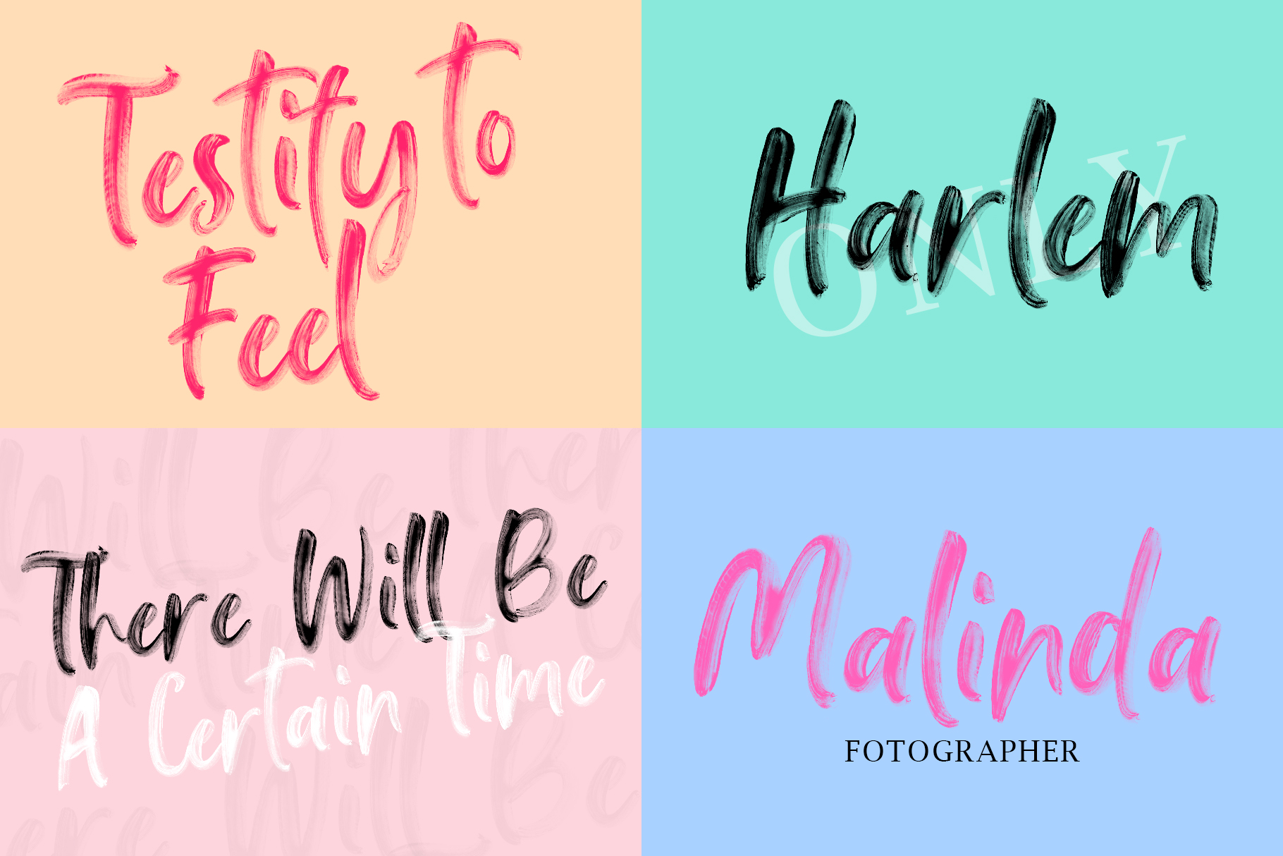 Falbench SVG & Brush Font example image 9