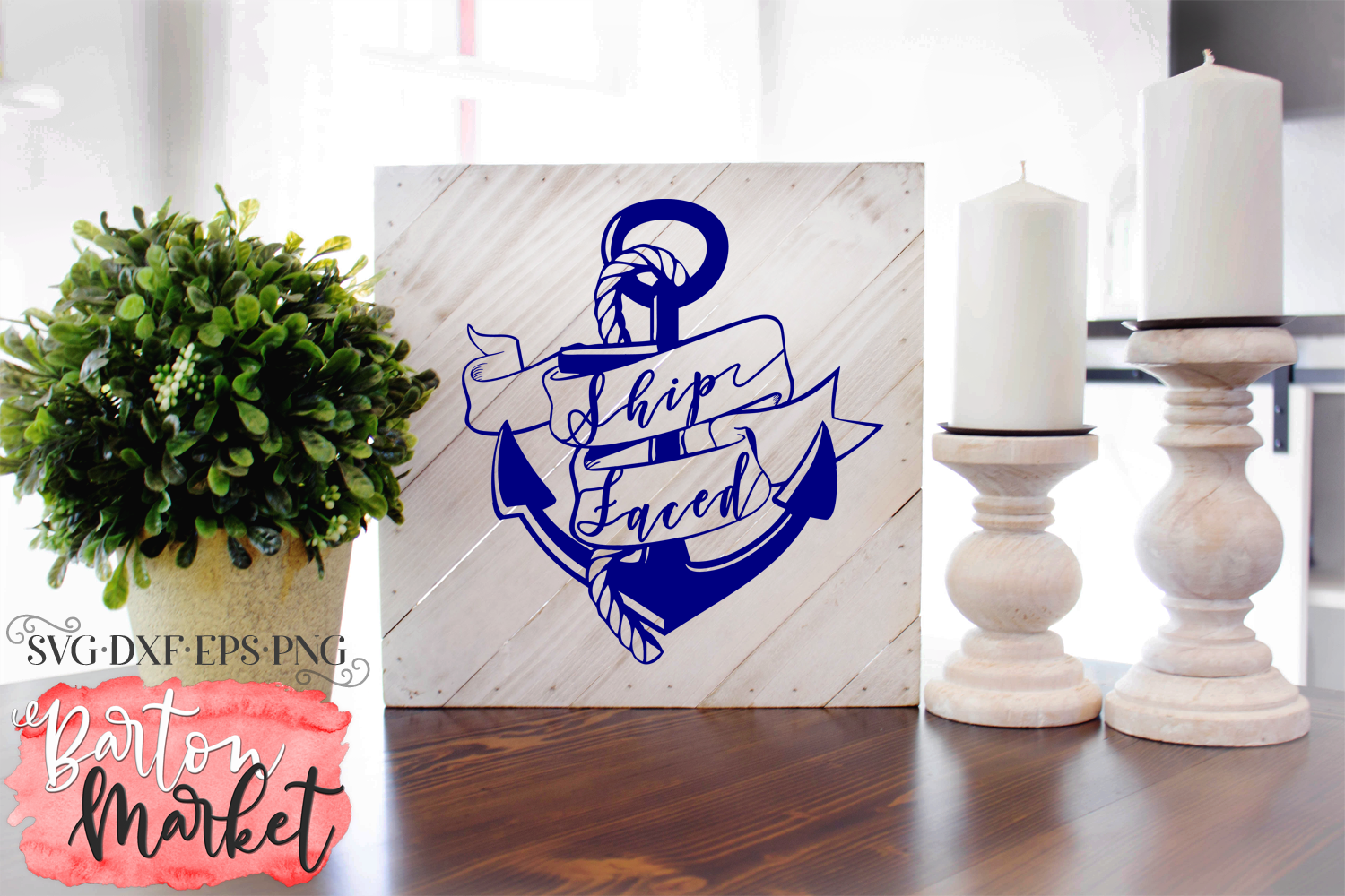 Ship Faced SVG DXF EPS PNG example image 2