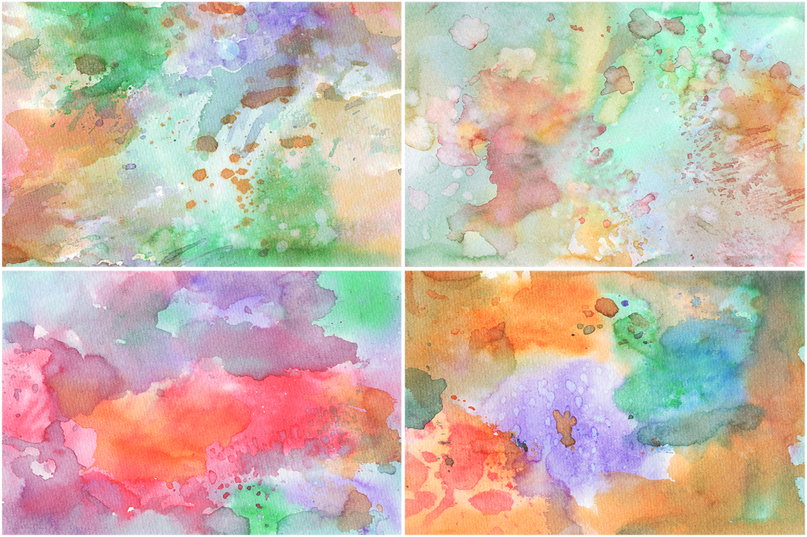 20 Watercolor Backgrounds 01 example image 4