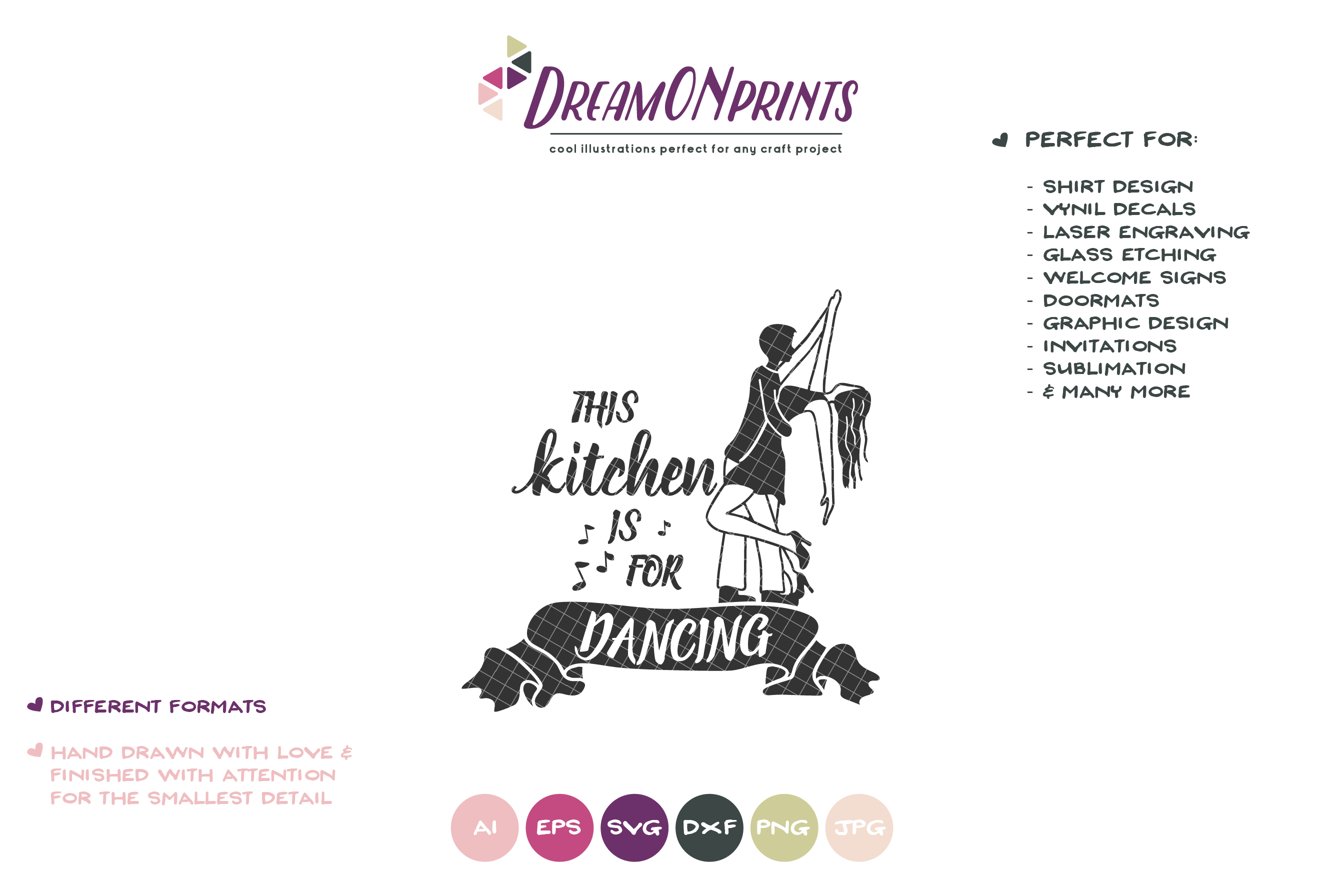 This Kitchen is for Dancing | Kitchen Sign SVG example image 2