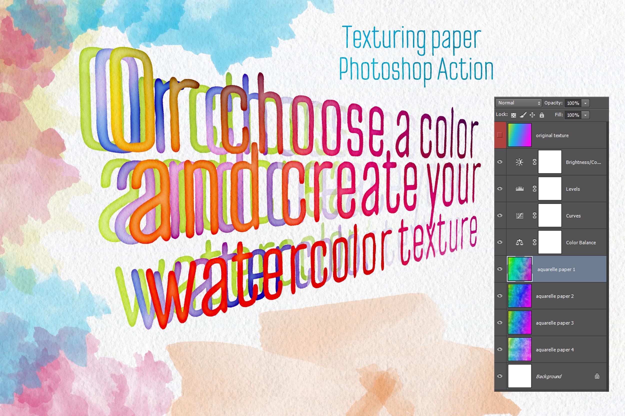 Aquarelle Master Shop Photoshop Action Kit example image 3