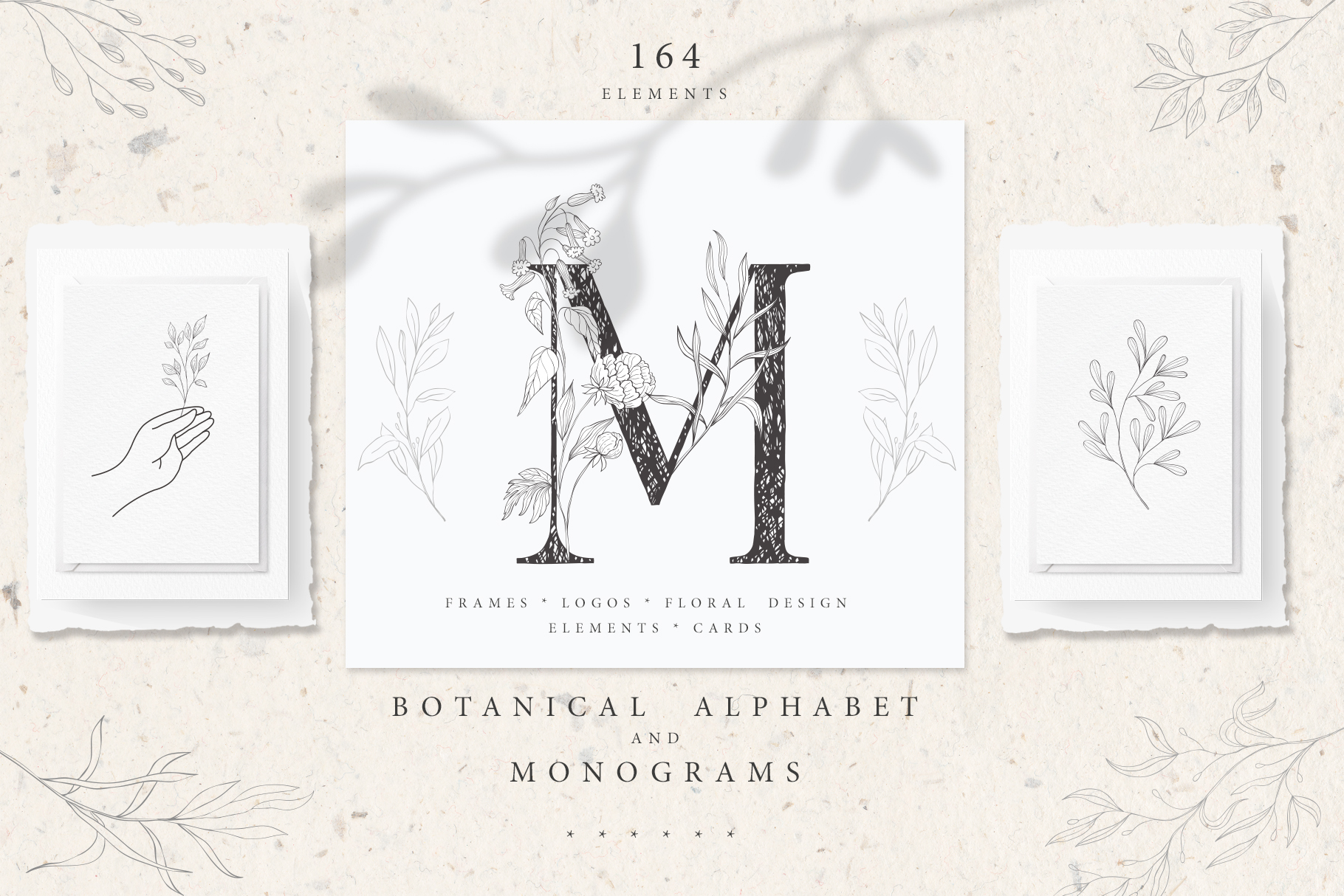 Botanical Alphabet and Monograms. example image 1