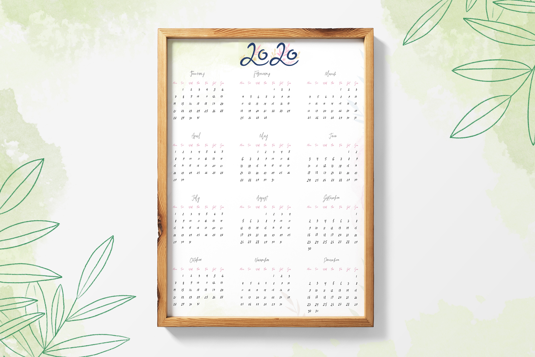 Planner and Calendars 2020 example image 6