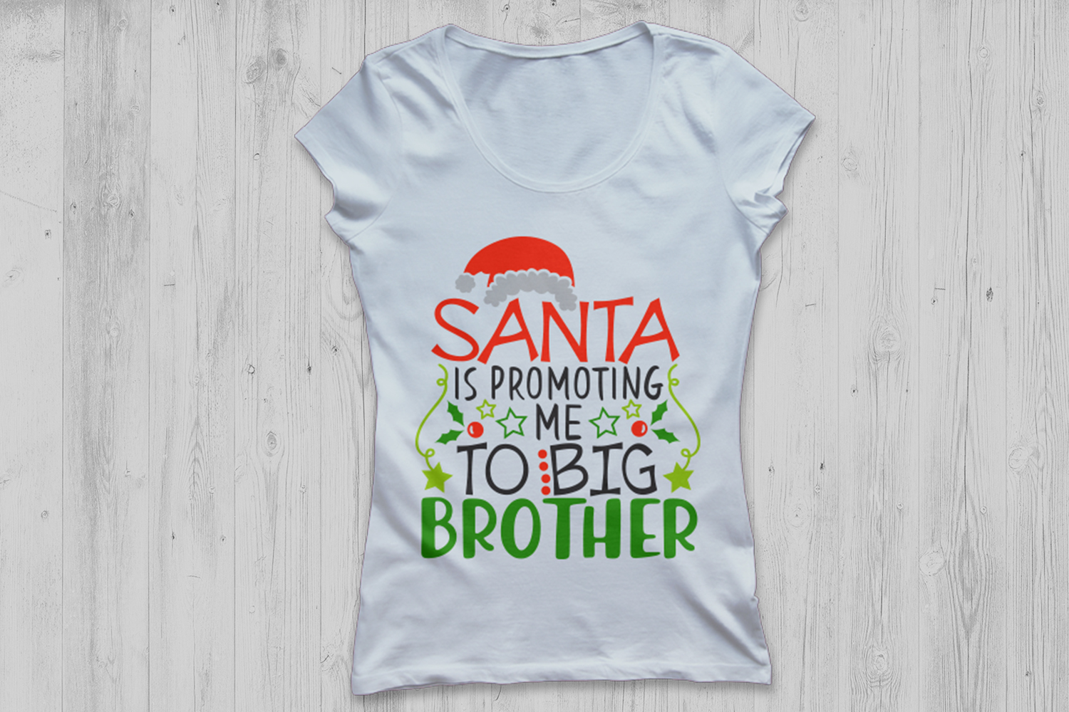 Santa Is Promoting Me To Big Brother Svg, Christmas Svg. example image 2