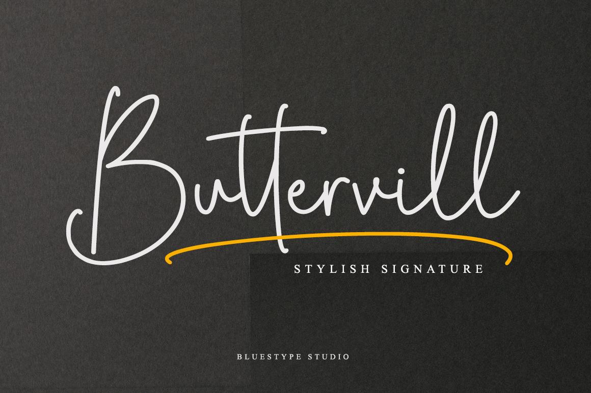 Buttervill - Stylish Signature example image 1