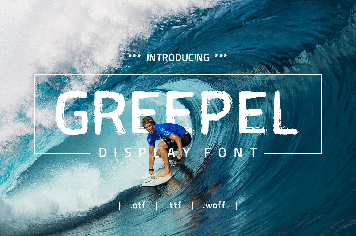 Greepel Grunge Font example image 1