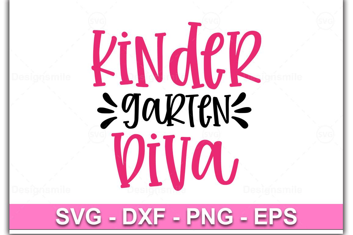 Kindergarten Diva SVG, Kindergarten Girl svgl example image 1