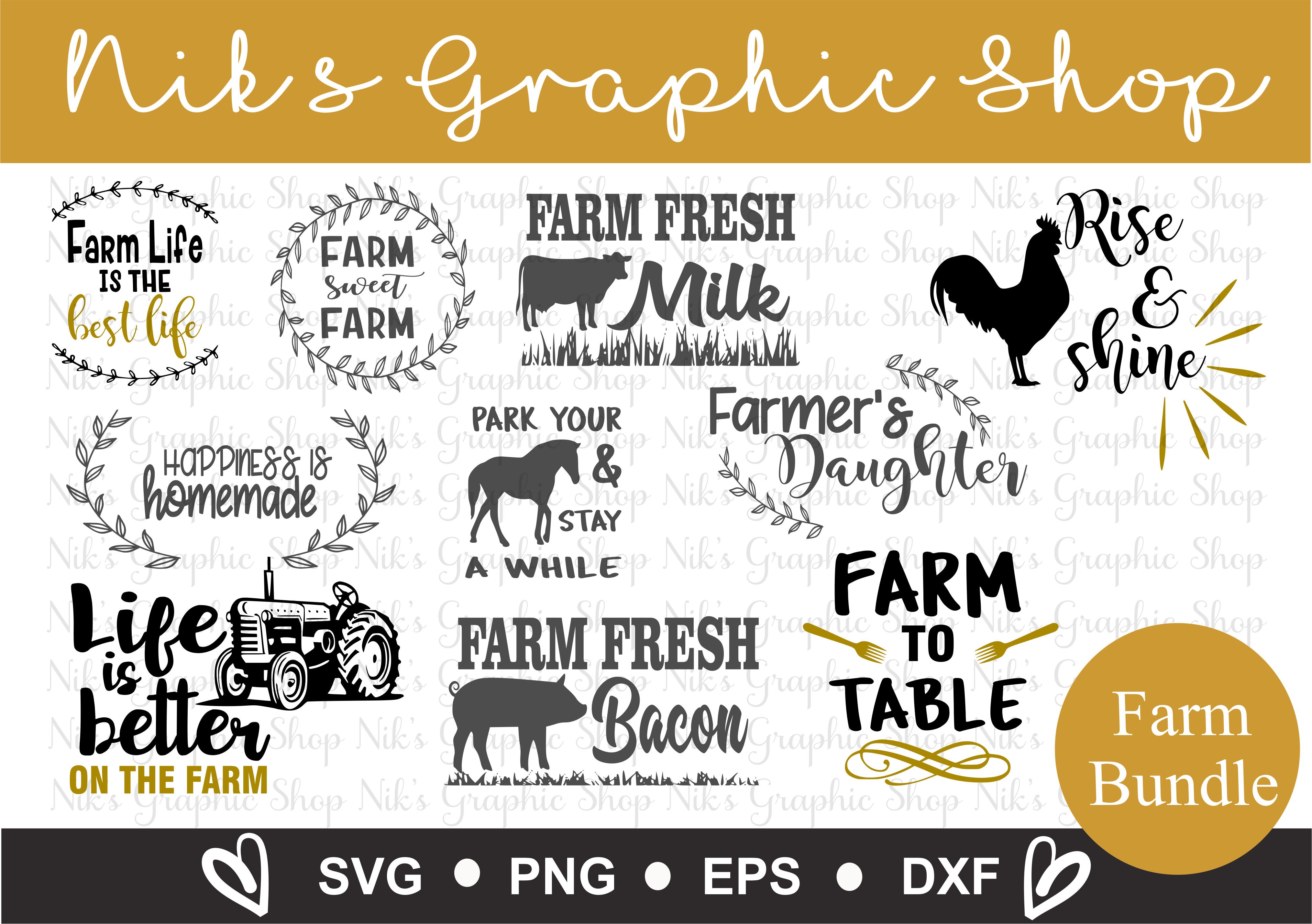 Farm Svgs, Farmers Svgs, Farmers Daughter Svg, Farm sweet example image 1