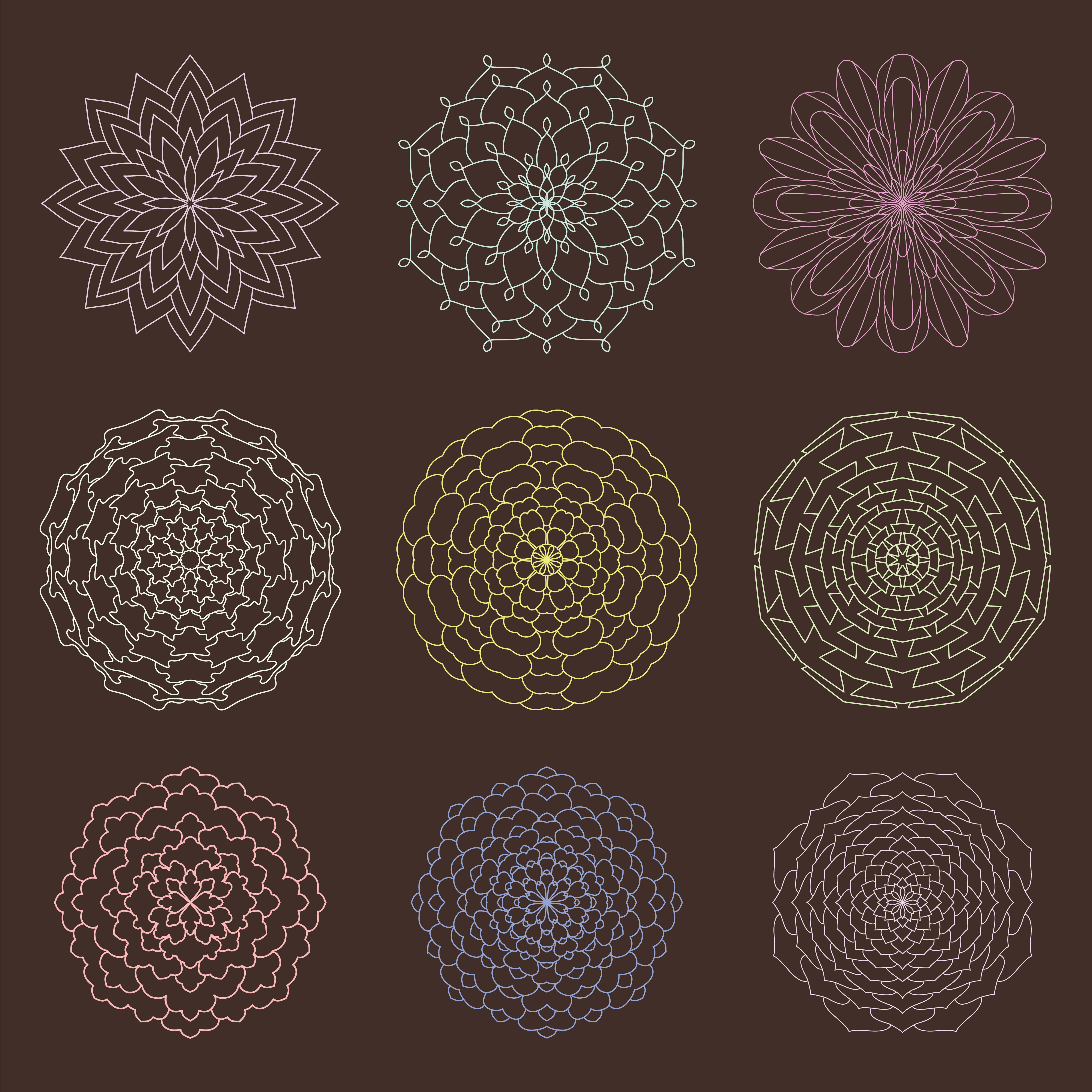 Set of Mandalas example image 4
