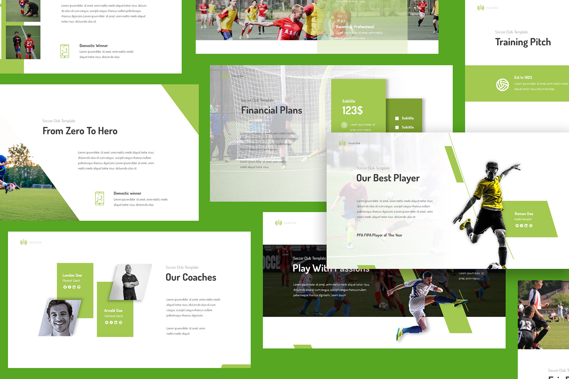 Soccer Club Powerpoint Presentation example image 3
