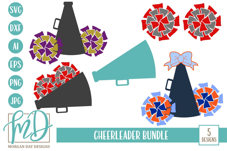 Cheerleader Bundle SVG, DXF, AI, EPS, PNG, JPEG example image 1
