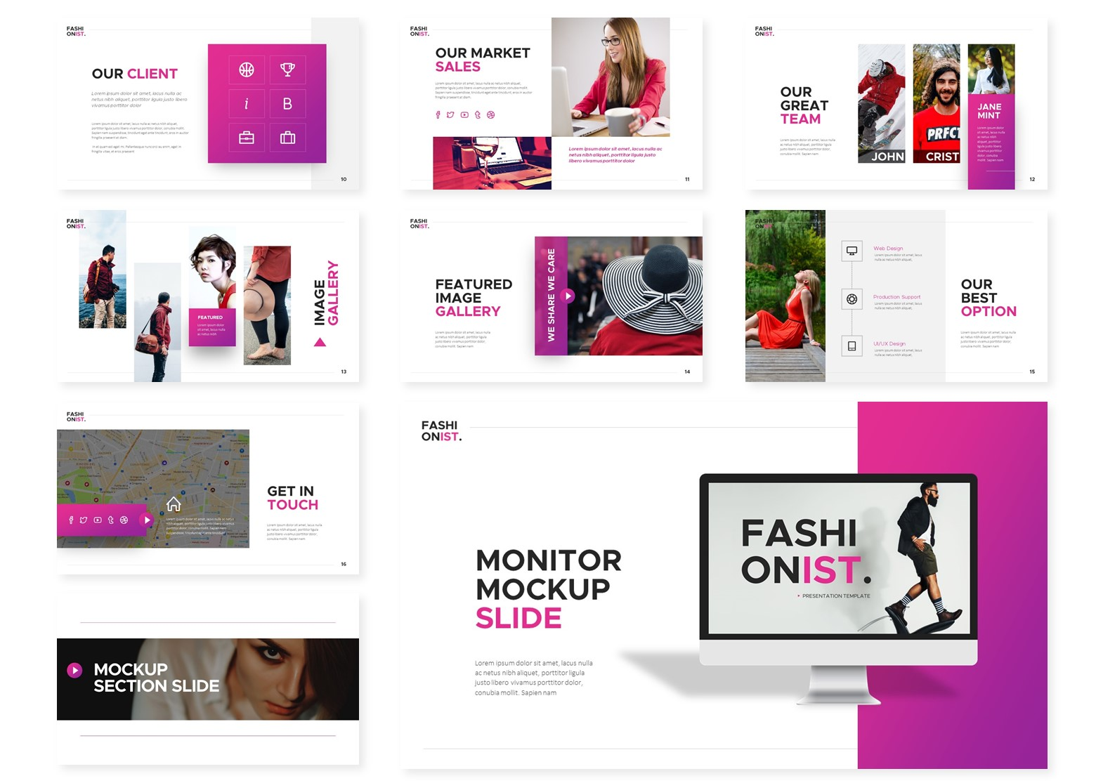 Fashionist   Powerpoint, Keynote, GoogleSlides Template example image 5