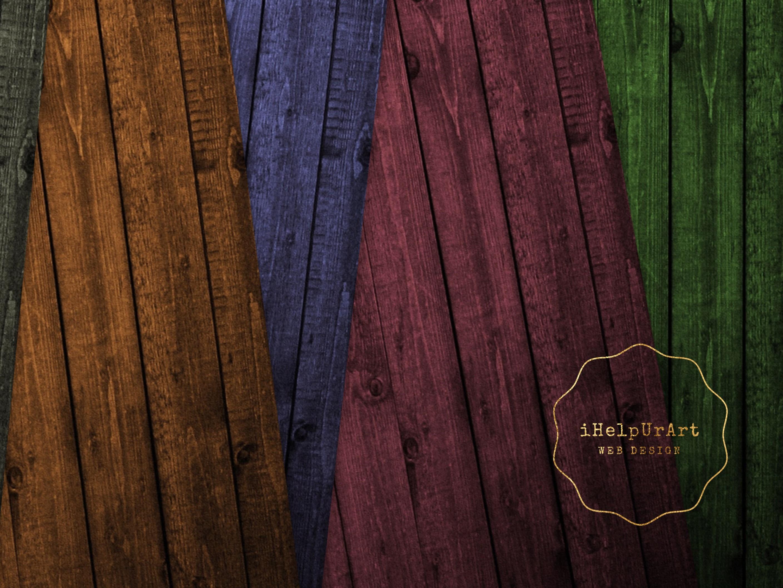 Dark Wood Texture Paper example image 2
