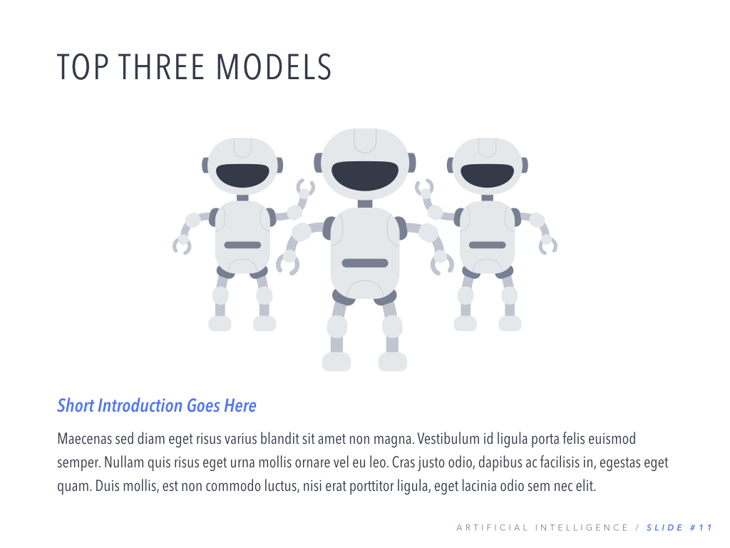 Robot Showcase PowerPoint Template example image 12