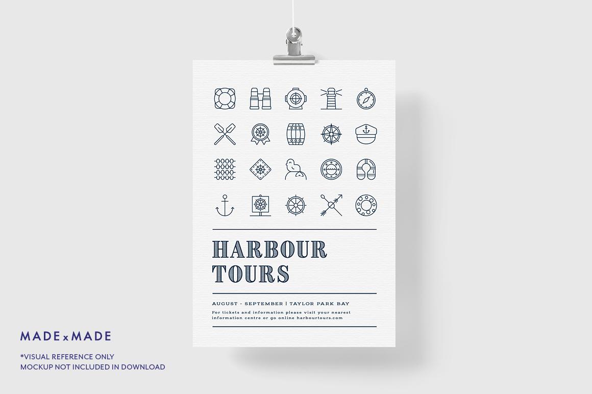 Line Icons - Nautical example image 5