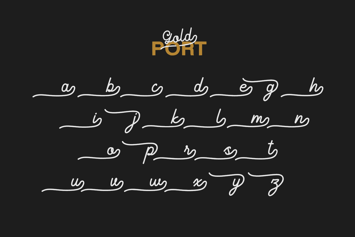 Gold Port - Font Duo with Sans example image 7