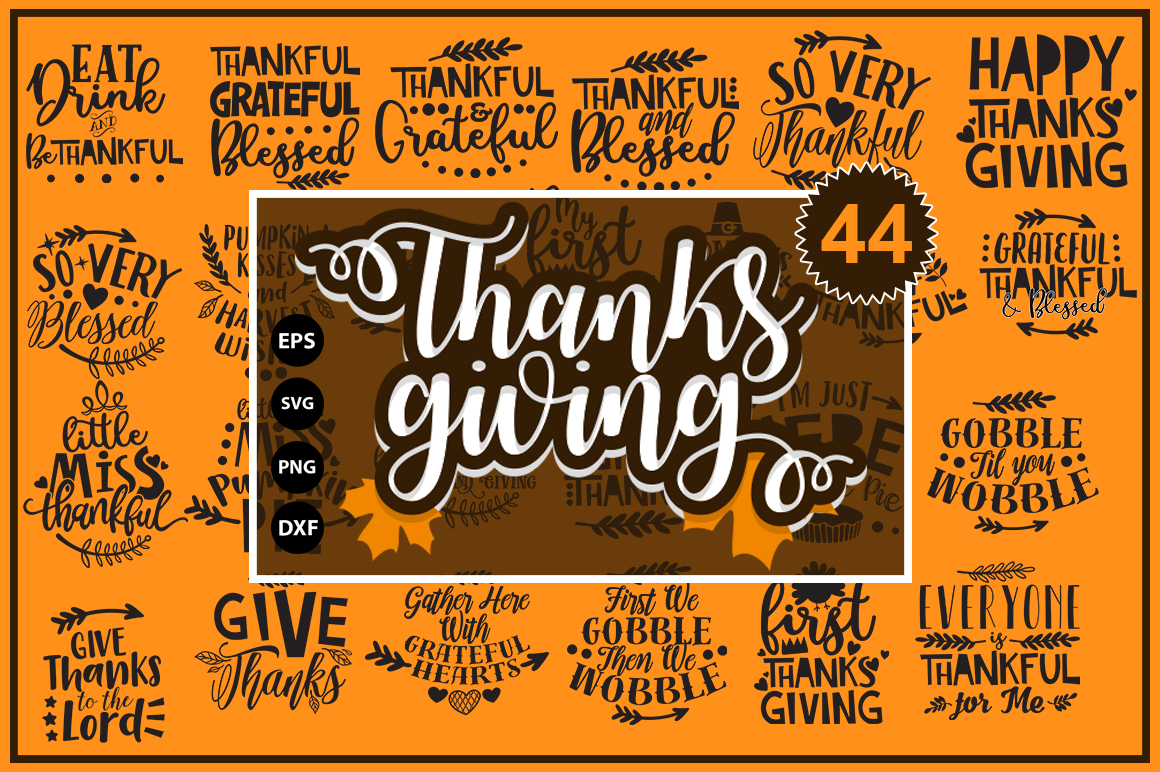 Thanksgiving quotes Mega Bundle example image 1