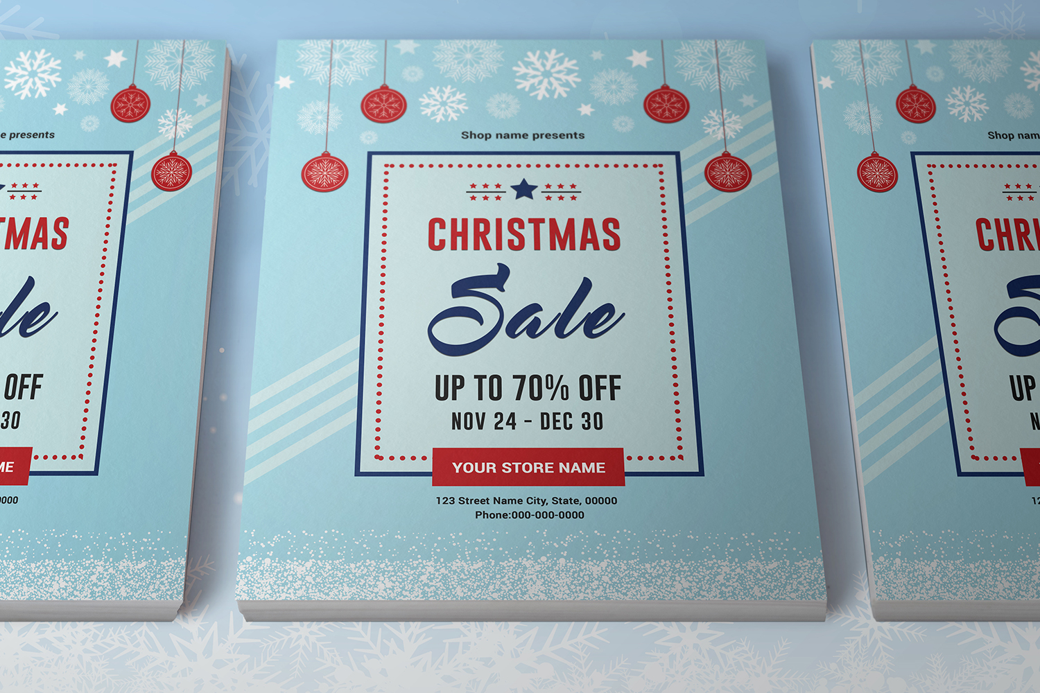 Christmas Holiday Sale Flyer example image 3