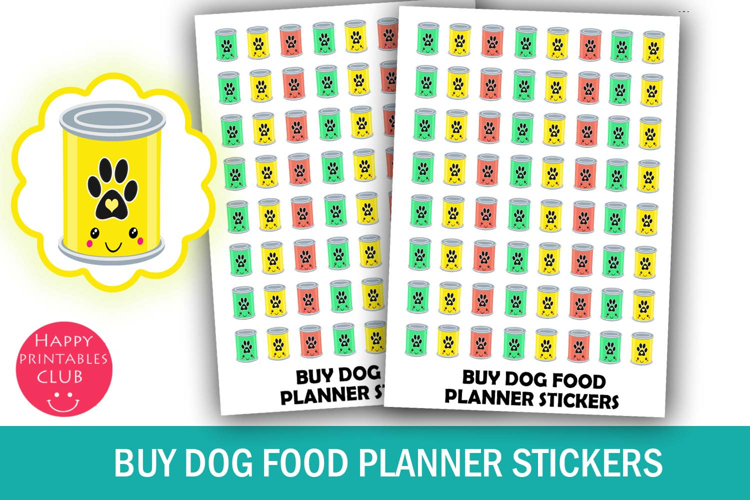Buy Dog food Planner Stickers- Dog Food Reminder Stickers example image 1