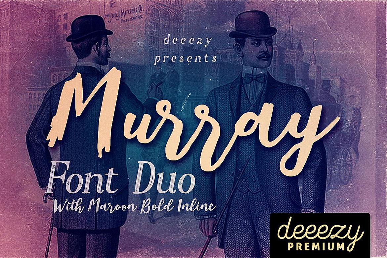 Murray Script Font Duo example image 1