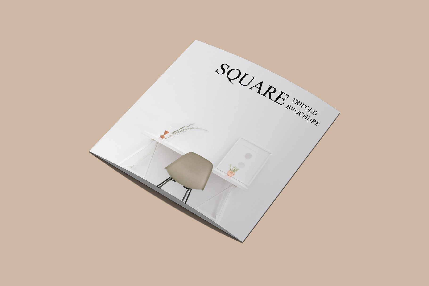 Square Trifold Brochure Mockup example image 10