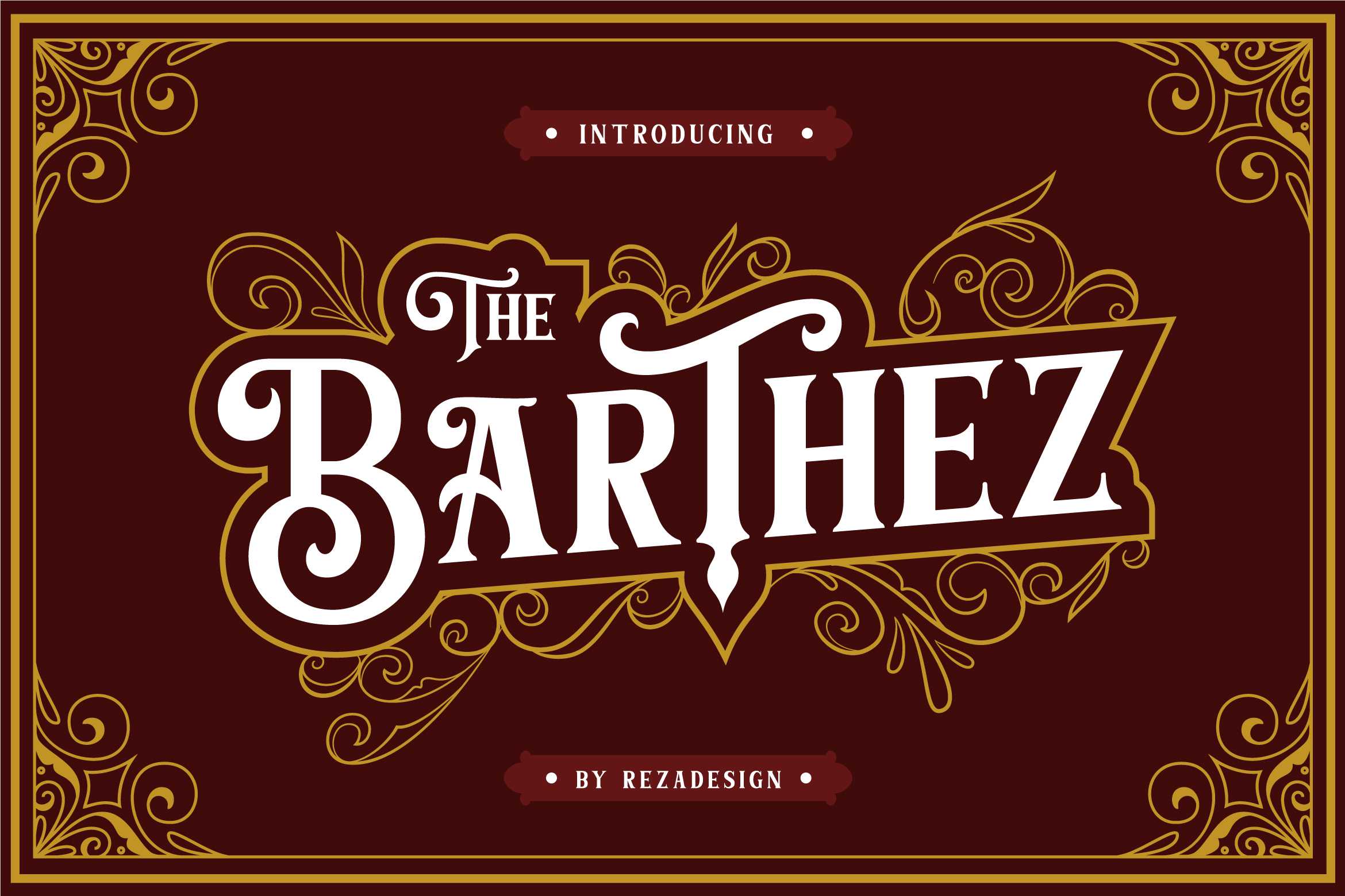 Barthez - Victorian Serif Font example image 13