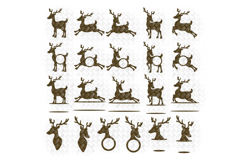 Reindeer SVG Bundle Antlers in SVG, DXF, PNG, EPS, JPEG example image 2