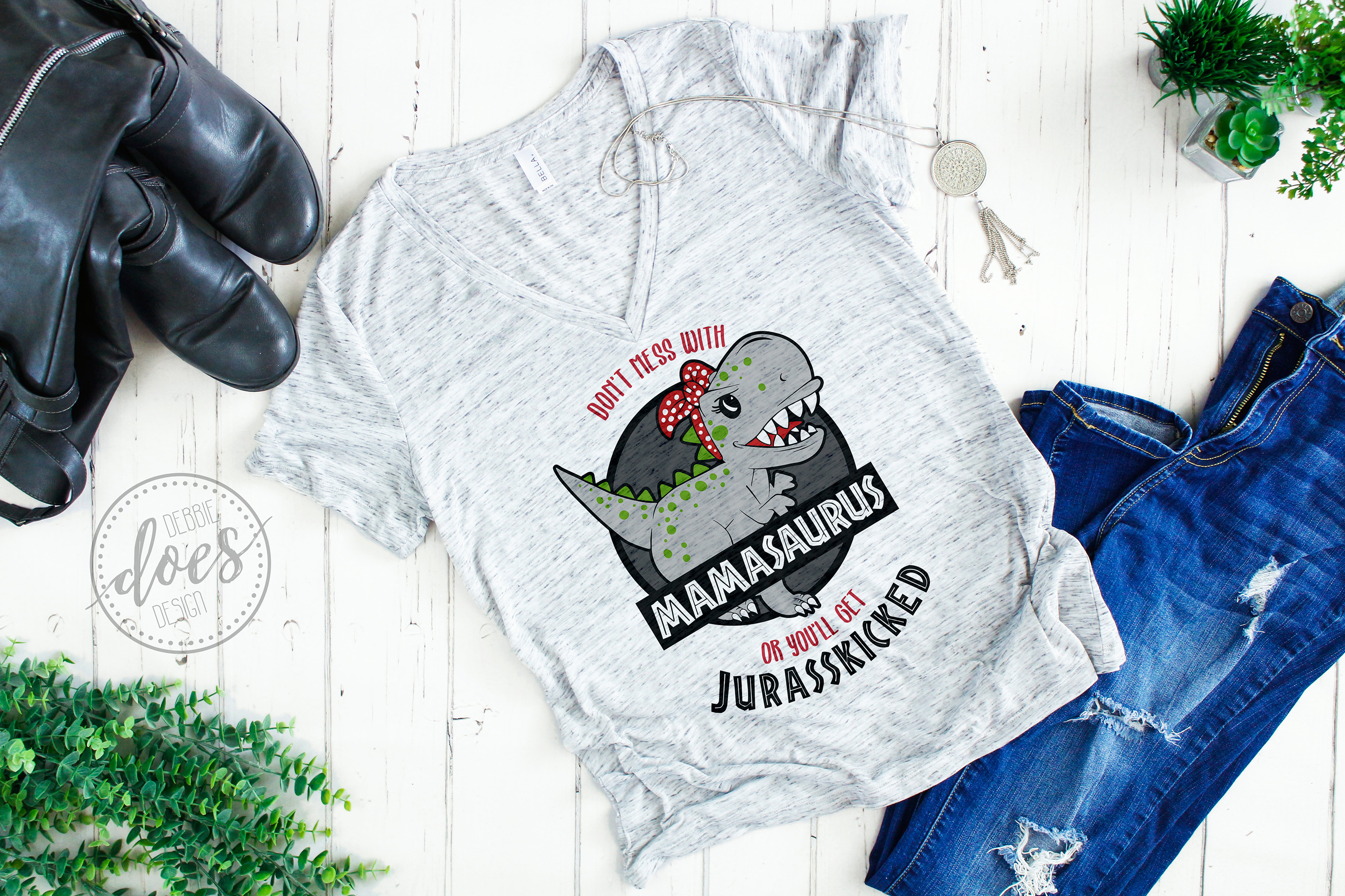 Don't Mess With Mamasaurus or You'll Get Jurasskicked - SVG example image 2