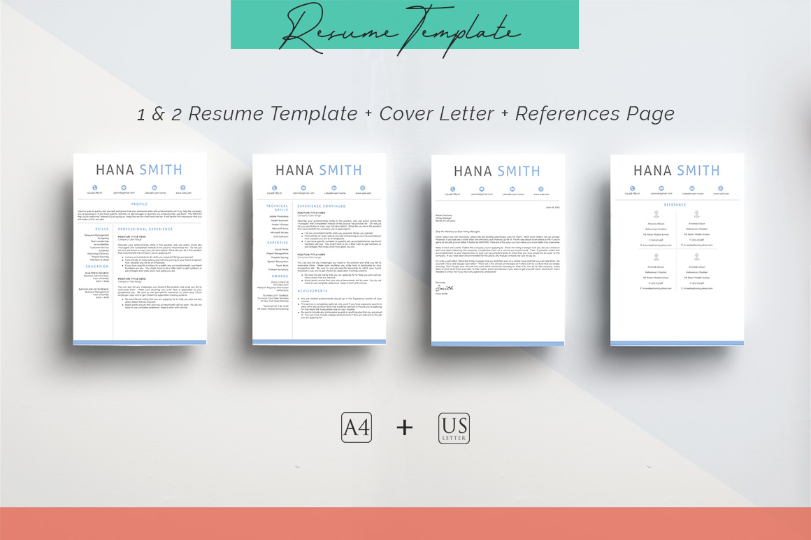 ULTIMATE BUNDLE Resume Template 10 in 1 example image 7
