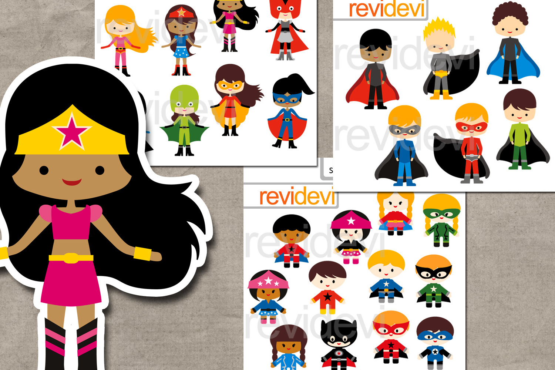 Superhero design bundle graphics and illustrations example image 1