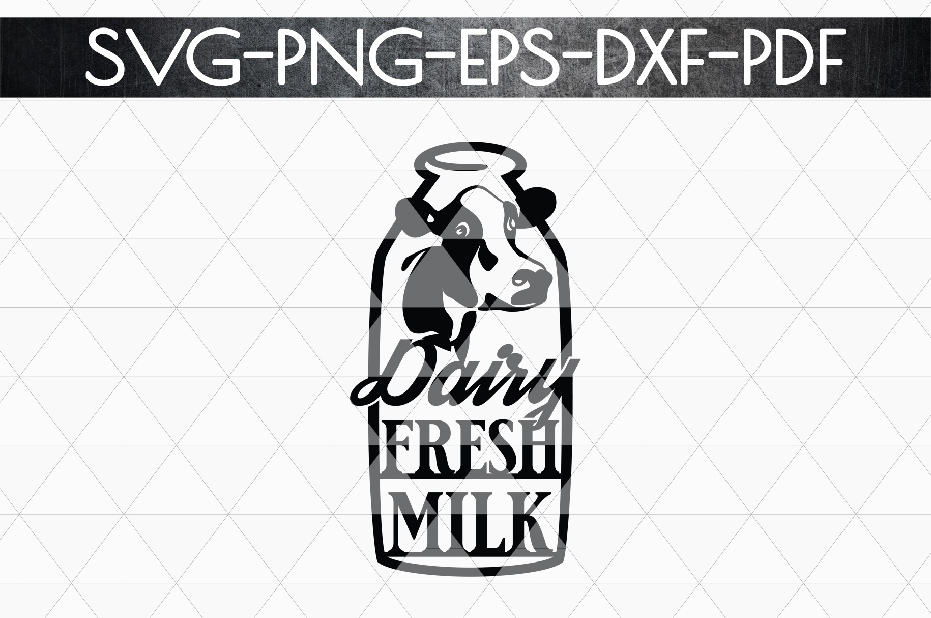Dairy Fresh Milk Papercut Template, Farmhouse Themed, PDF example image 4