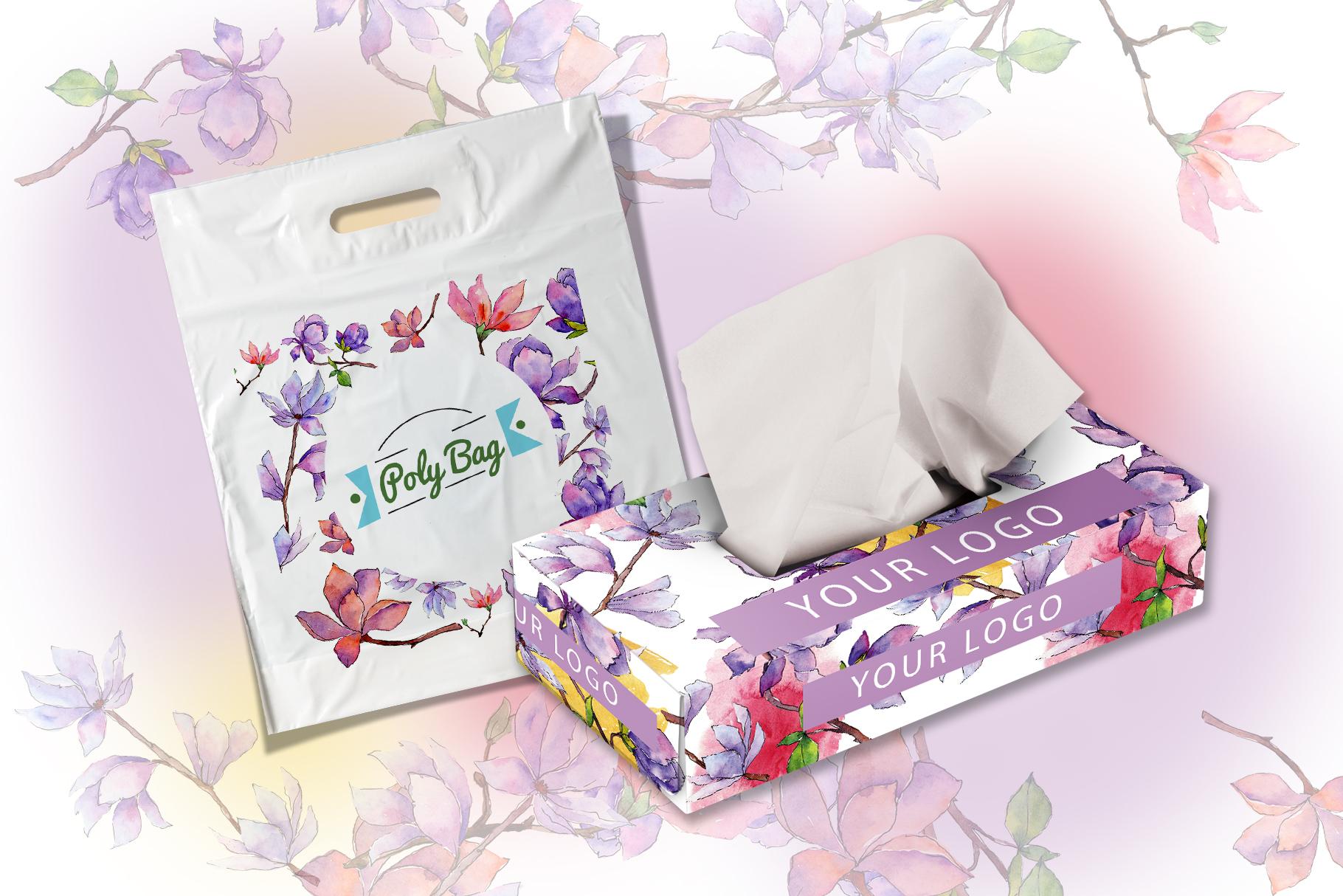Amazing magnolia JPG watercolor flower set example image 7