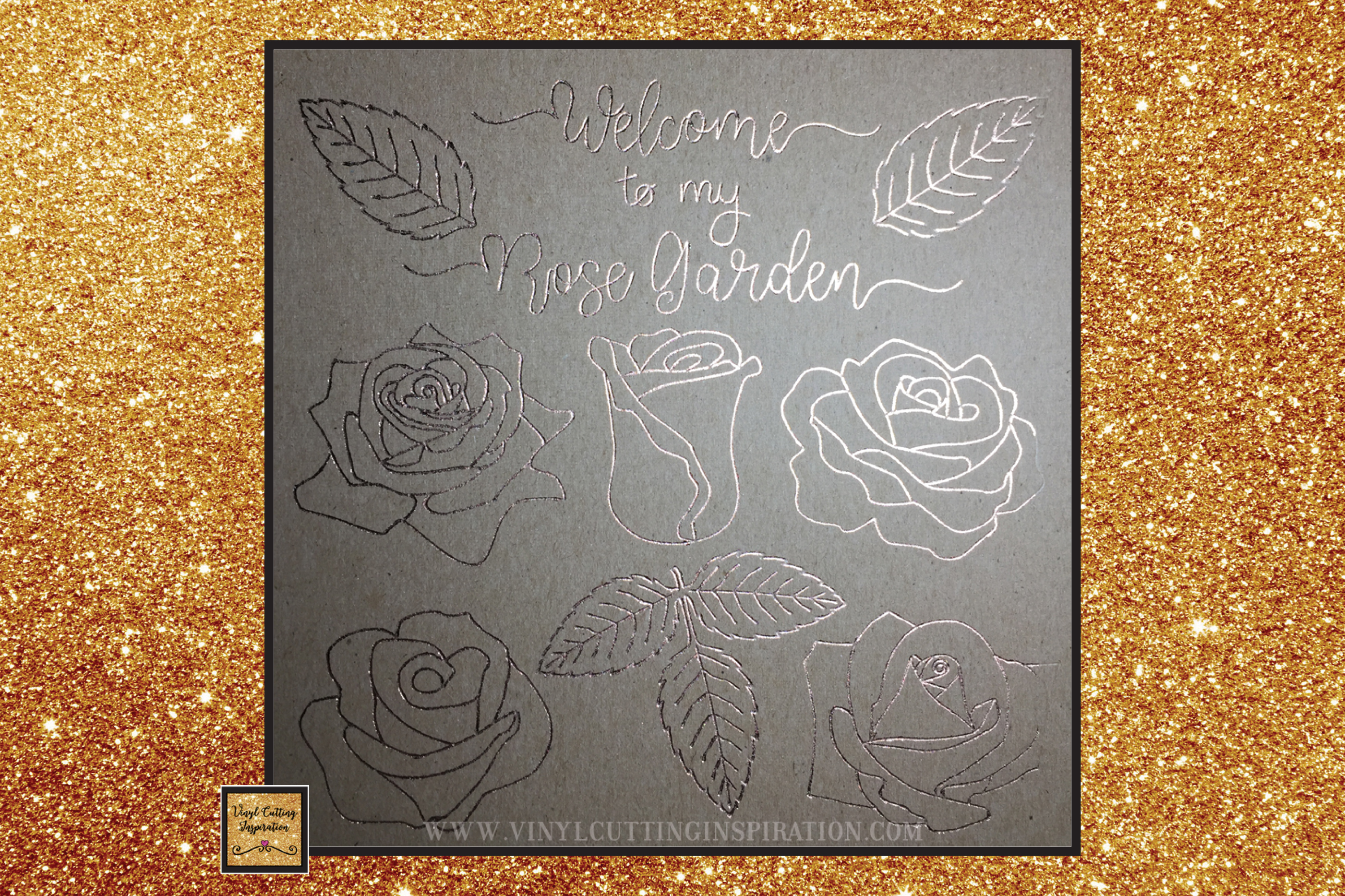 Foil Quill Designs Foil Quill Sketch Rose Svg Foiling SVG example image 3