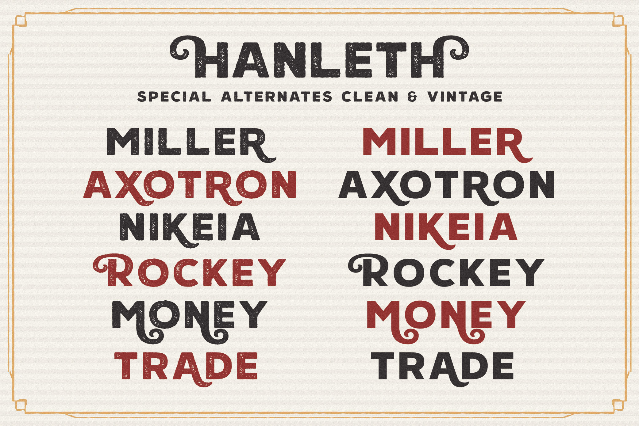 Hanleth Vintage Font Family example image 10