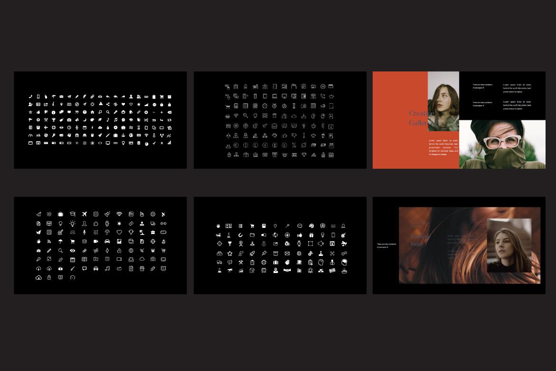 Jasmine Dark Lookbook - Fashion Google Slides example image 7