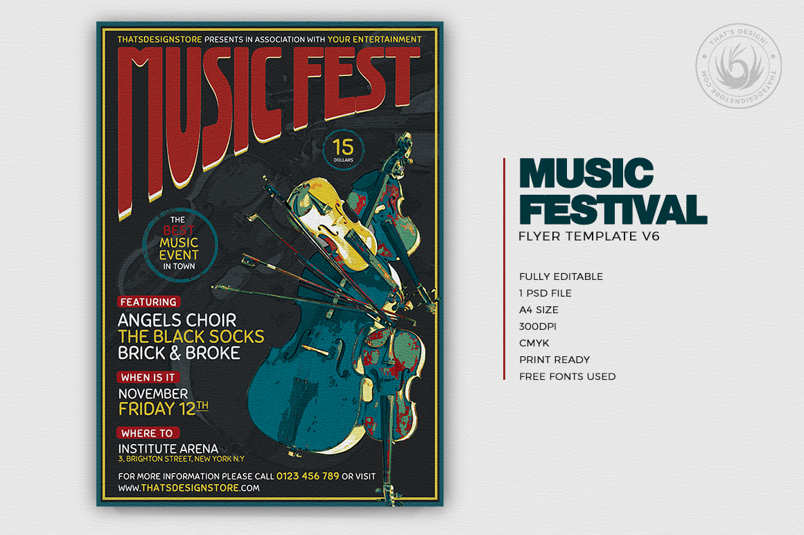 Music Festival Flyer Template V6 example image 2