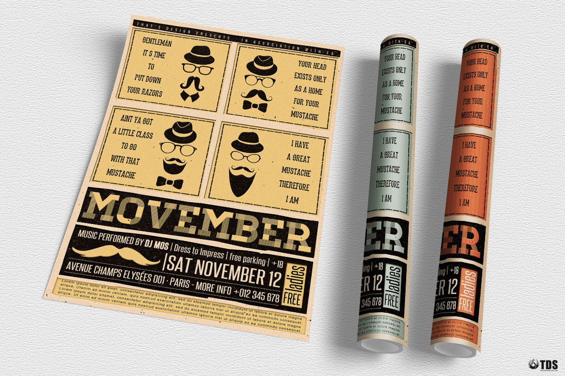 Movember Flyer Template V1 example image 9