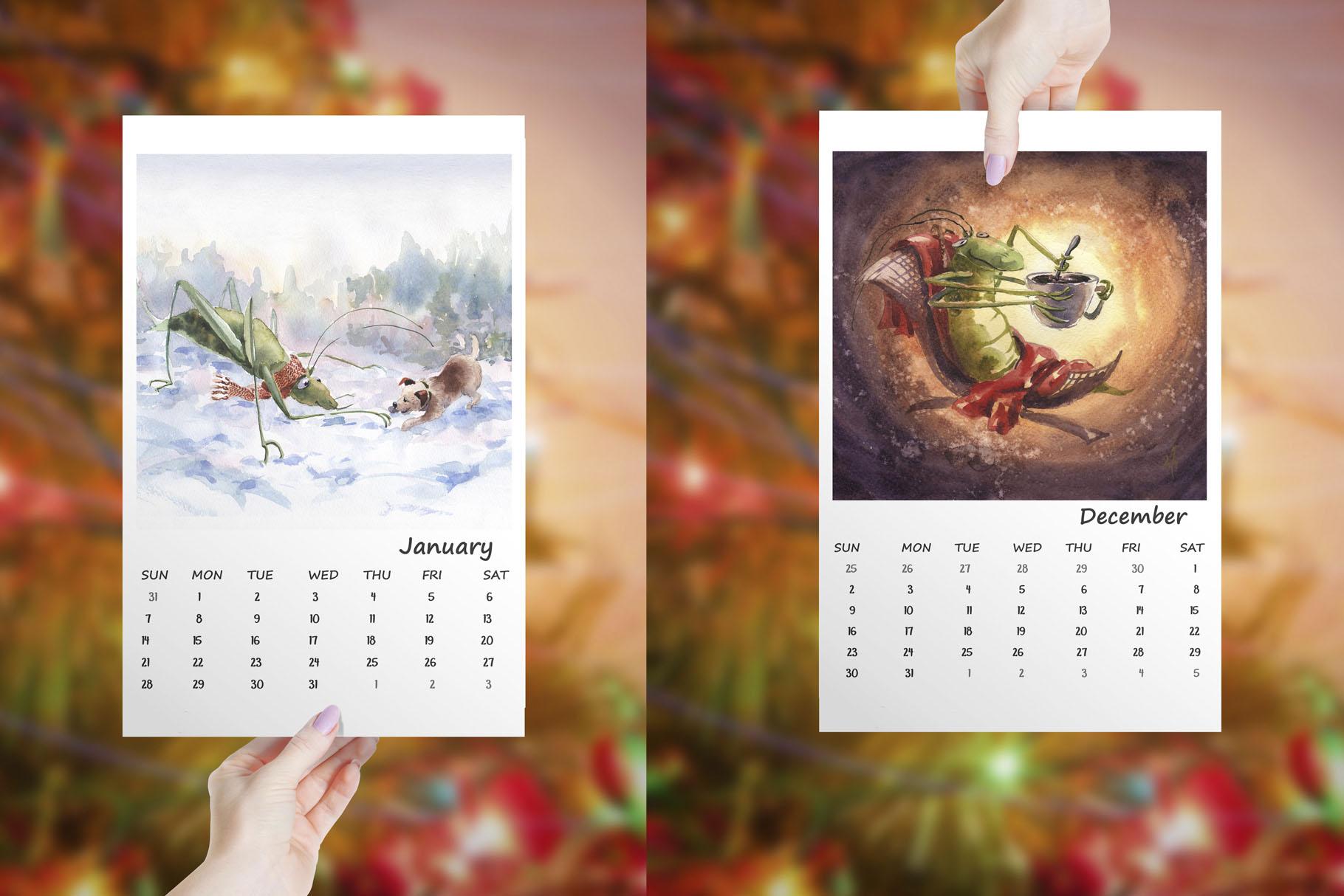 Calendar 2018 example image 2