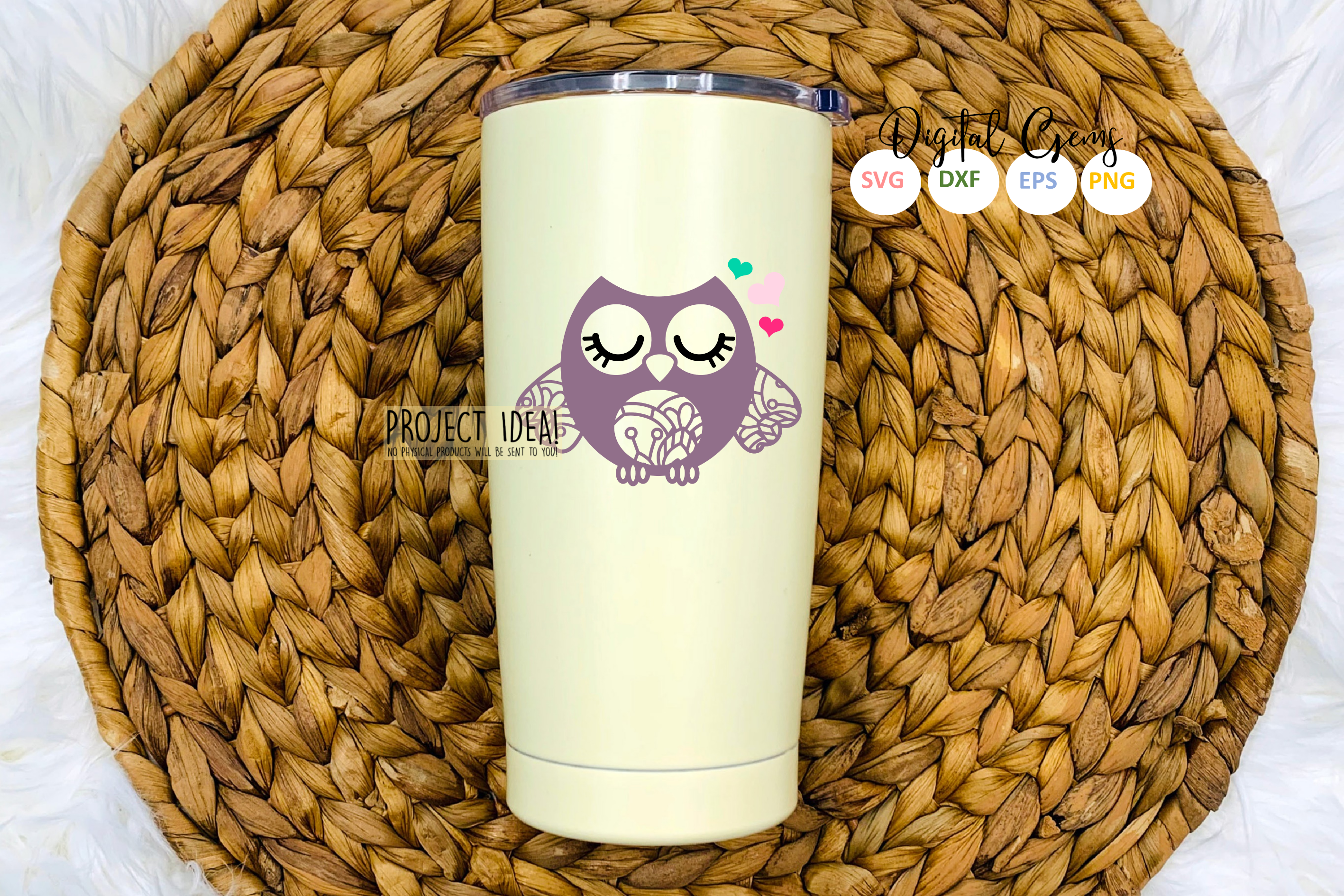 Owl SVG / EPS / DXF / PNG files example image 4
