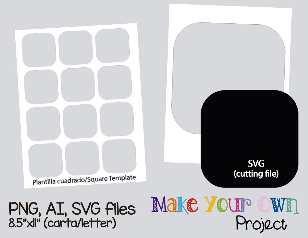Square Template Collage Sheet Template Digital Template Collage Template Printable Template Collage Digital Png Ai Svg