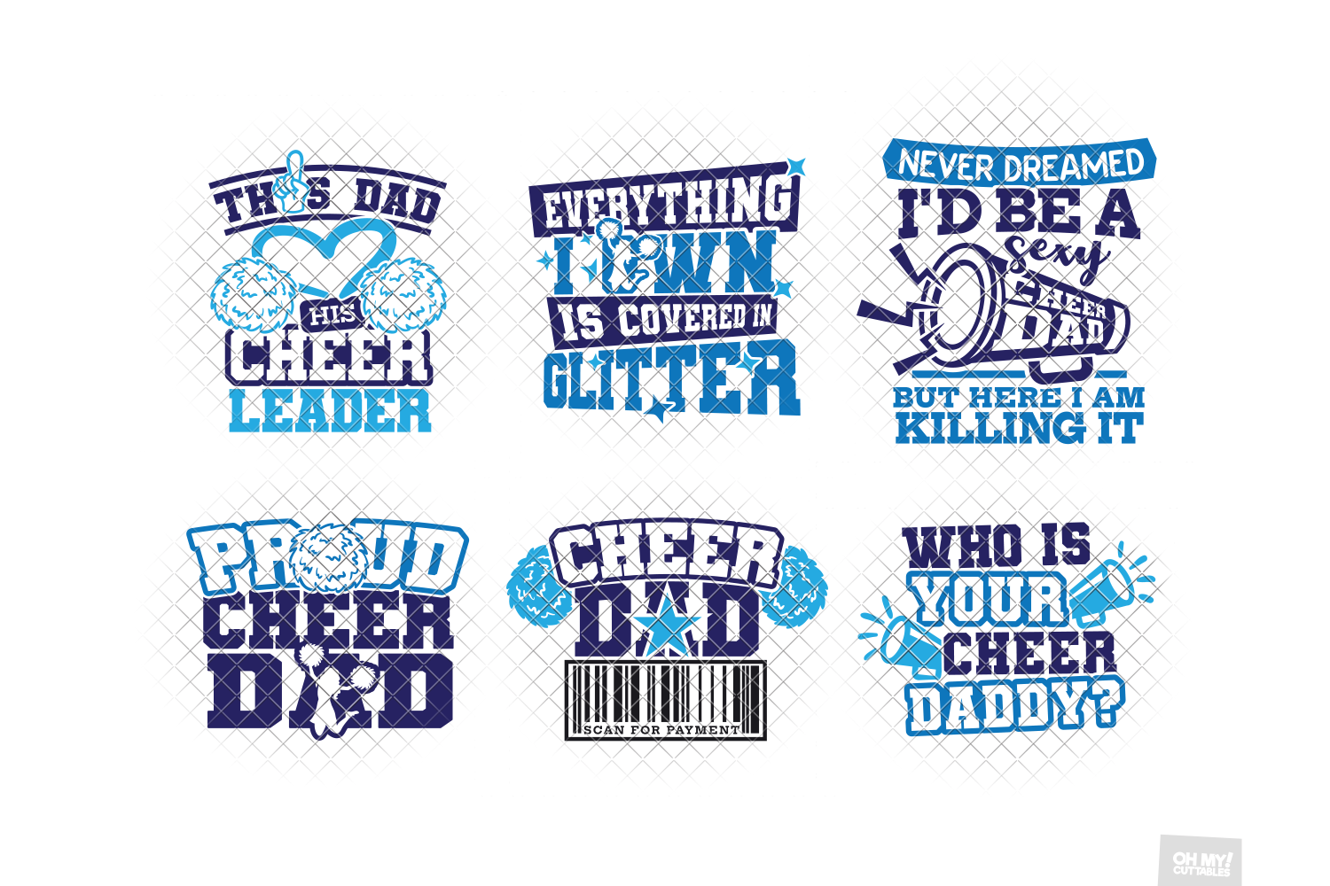 Cheer Dad SVG in SVG, DXF, PNG, EPS, JPG example image 3