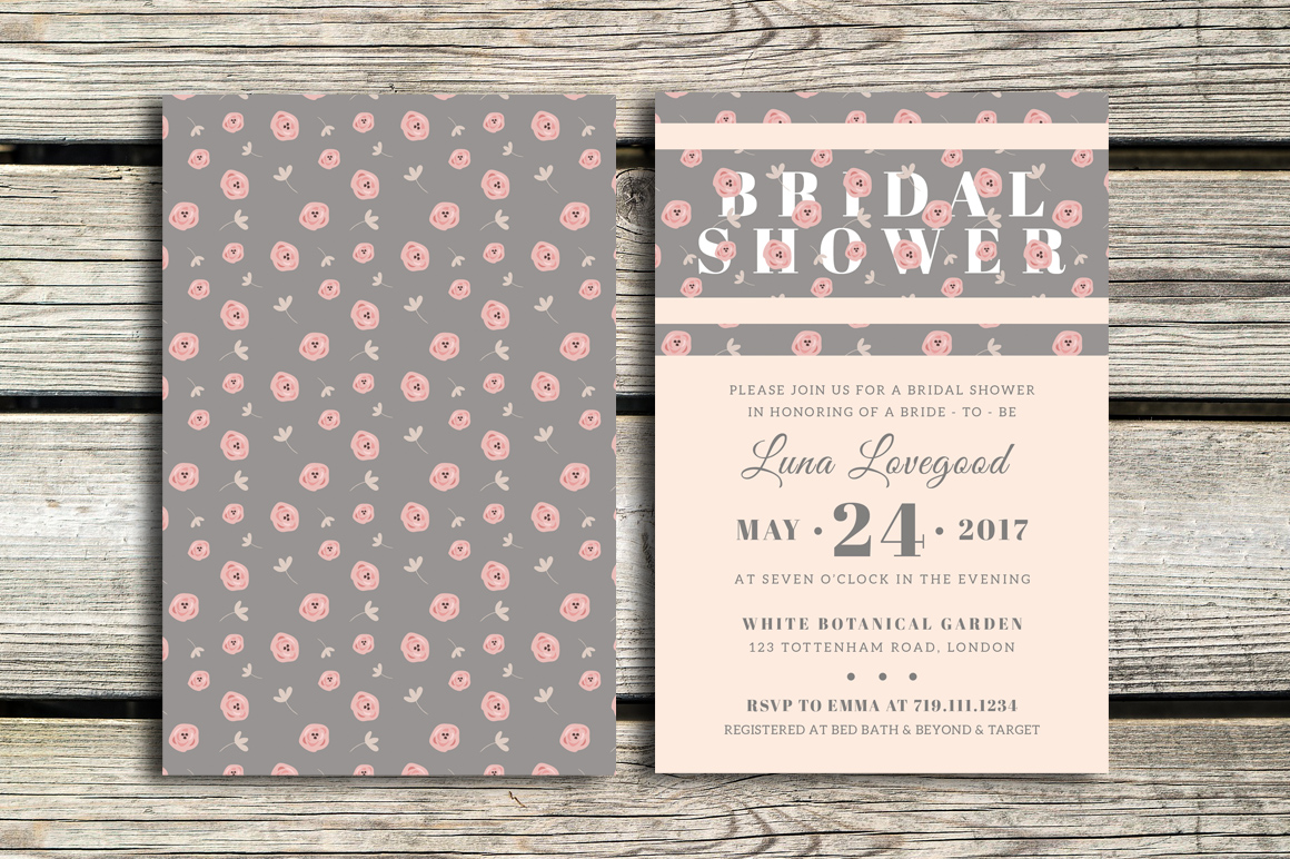 Floria - Bridal Shower Invitation example image 1