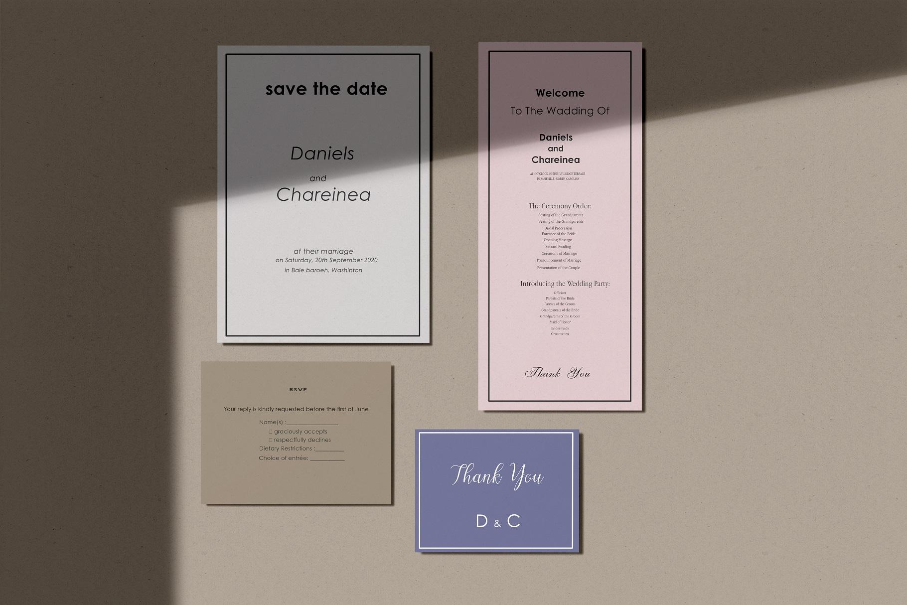 Wedding Invitation Suite Mockup example image 4