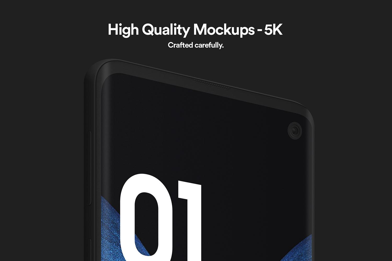 Samsung S10 - 21 Clay Mockups - 5K - PSD example image 3