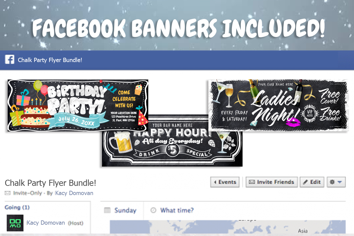 Chalk Party Flyer Bundle 30 off example image 4