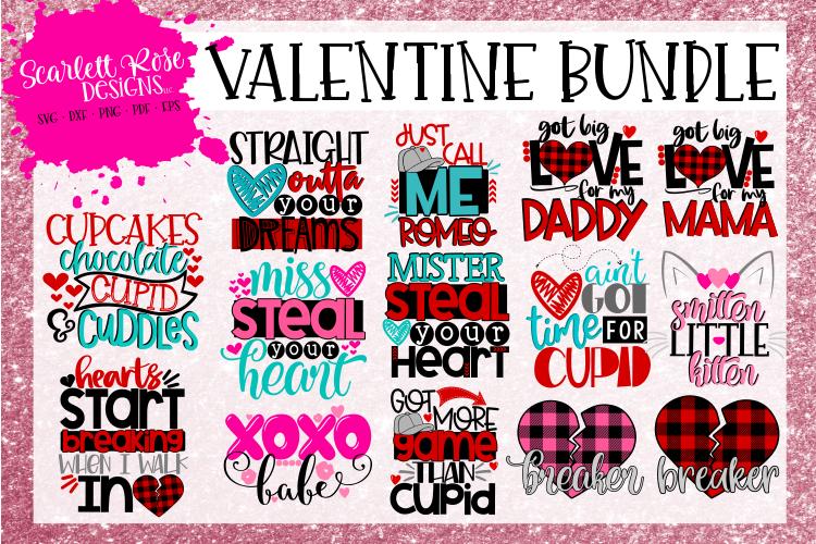 The Valentine Bundle - Valentine's Day SVG Bundle example image 1