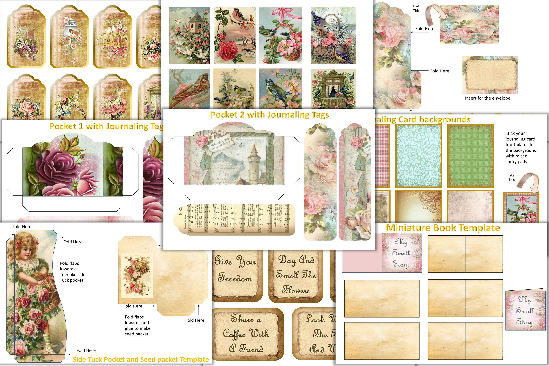 Journaling Kit with free ephemera & Clipart JPEG, PNG & PDF example image 2