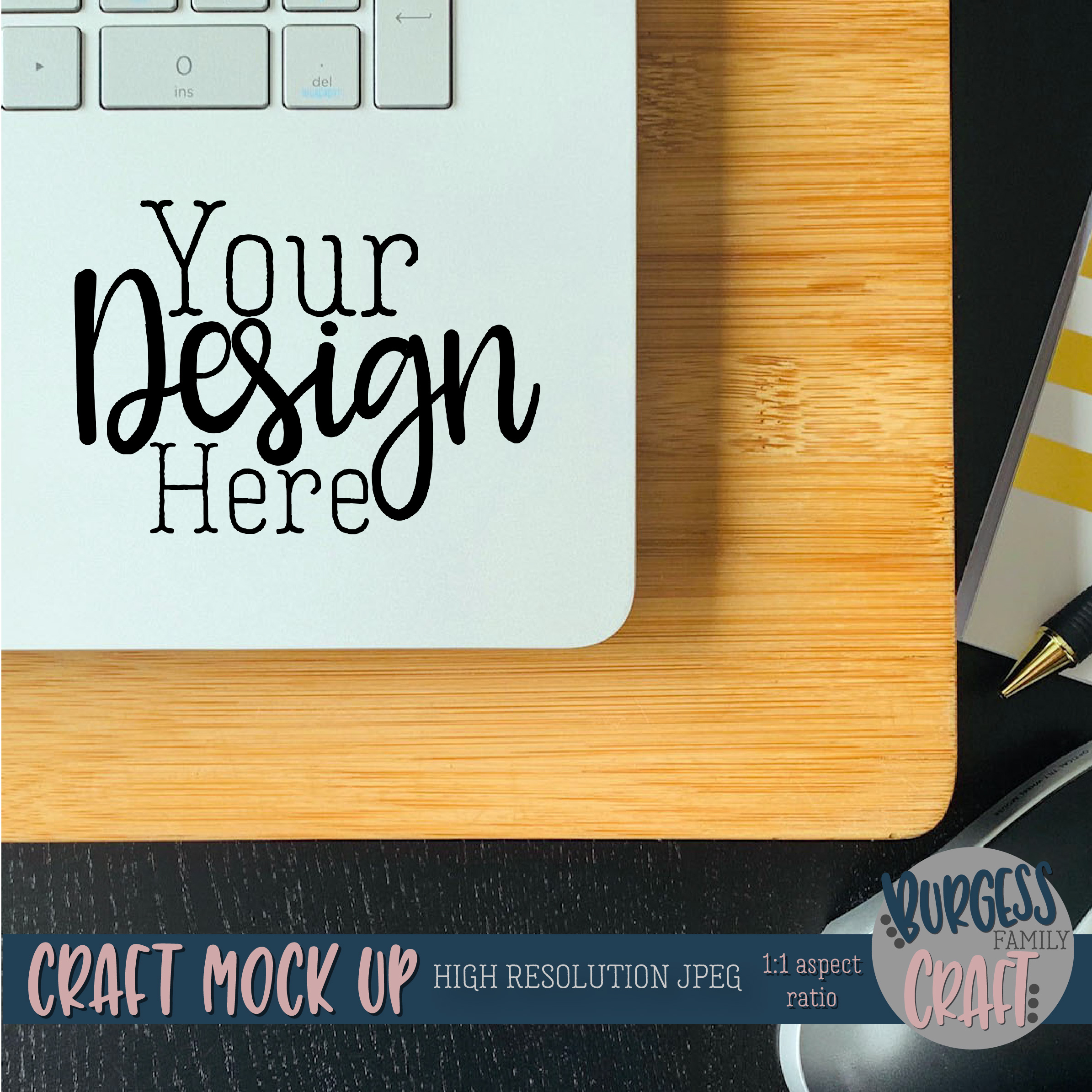 Laptop decal Craft mock up |High Resolution JPEG example image 2