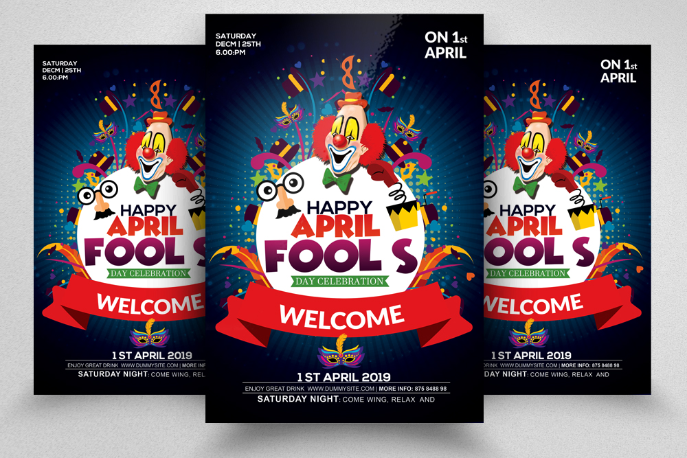 4 April's Fool Day Flyers Bundle example image 5