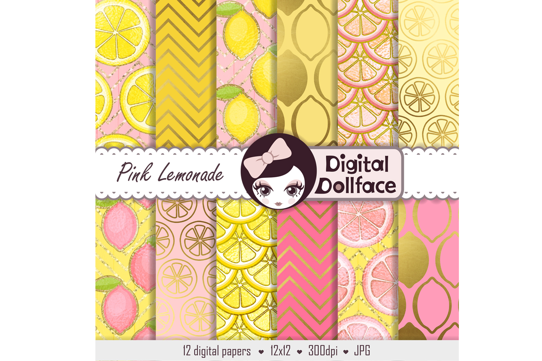 Pink Lemonade Digital Patterns example image 2